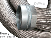 Delikon steel mill and petrochemical industry automation wiring waterproof Heavy Series Over Braided Flexible Metal Conduit and Heavy Series Flexible Conduit Fittings
