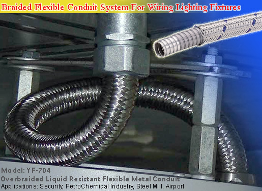 over braided flexible conduit, liquid tight conduit and fittings for demanding projects