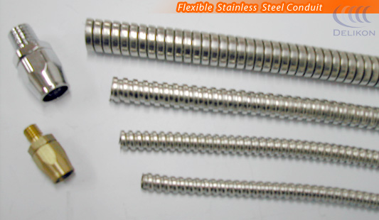 Small bore instrumentation tubing, flexible stainless steel conduit