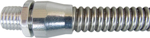Connectors with threaded end for Small Bore Stainless Steel Flexible conduit
