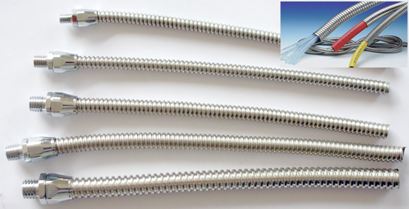 stainless steel flexible conduit at small bore flexible metal conduit rh delikon com metal cable conduit old metal conduit wiring