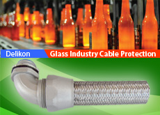 Heavy Series Over Braided Flexible Conduit For Glass Industry Equipment Wiring
