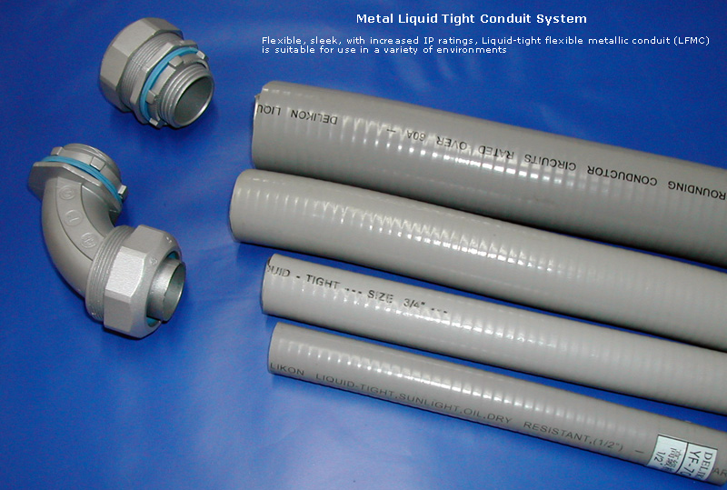Grey Liquid Tight Conduit