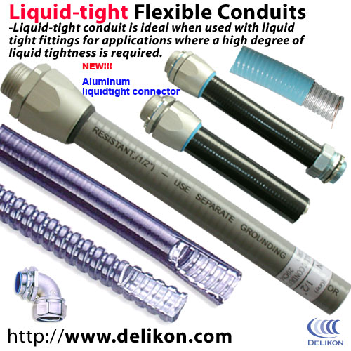 electric liquidtight flexible metallic conduits