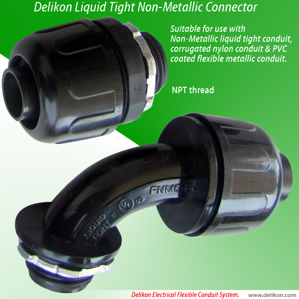 liquid tight non-metallic connector (npt threads)