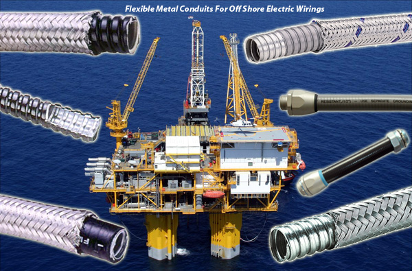 flexible metal conduits for offshore & heavy industry electrical wirings
