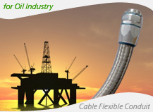Delikon Flexible conduit and fittings for oil industry electrical cable protection