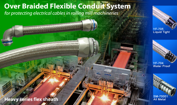 Over Braided Flexible Conduit Heavy series flex sheath