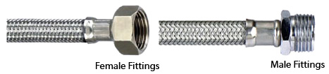 Fittings for Stainless Steel Braided Flexible Hose