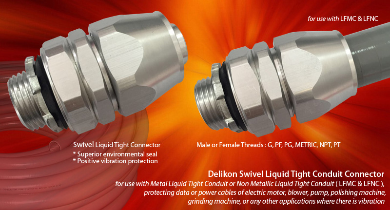 aluminum liquid tight connector fixed and swivel liquid tight rh delikon com