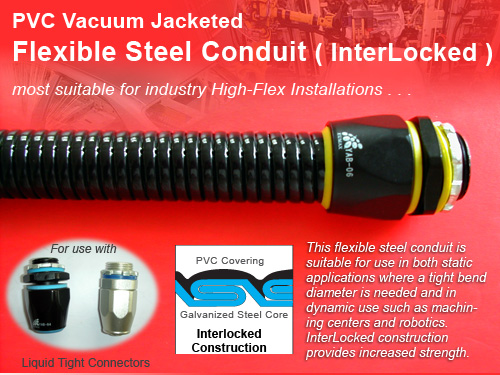 InterLocked PVC Coated Flexible Metal Conduit